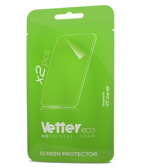 Folie screen protector HTC One M8 2 pack Vetter Eco