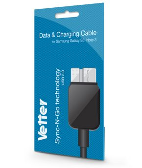Cablu Samsung Galaxy S5 Note 3 Data and Charging Vetter negru