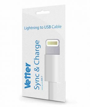 Cablu incarcare - transfer date iPhone 5s, 5c, 5 Lightning cable IOS 7.1 Vetter Blister