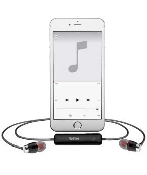 ClearSound Bluetooth Handsfree with digital voice announcement | Stereo Earphones | Black