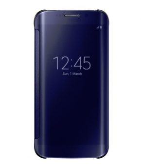 Husa Samsung Galaxy S6 EDGE G925 Clear View Neagra (Black)
