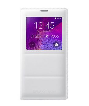 Husa Galaxy Note® 4 S-View Flip Cover alba
