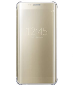 Husa Galaxy S6 EDGE Plus G925 Clear View aurie (gold)
