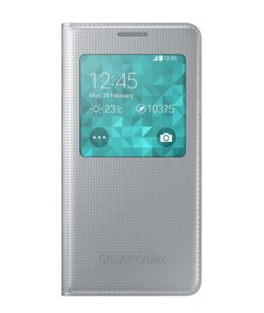 Husa Galaxy ALPHA S View Cover silver