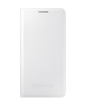 Husa Galaxy ALPHA Flip Cover alba