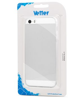 Husa iPhone 5s, 5 Vetter Soft Pro Crystal Series transparenta Clear