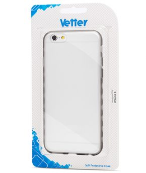 Husa iPhone 6 Vetter Soft Pro Crystal Hybrid transparenta gri