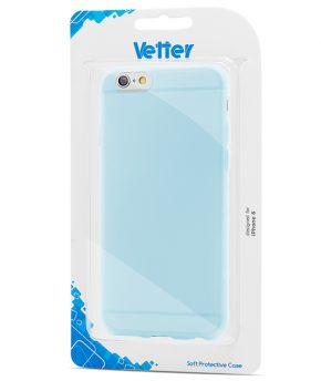 Husa iPhone 6 Vetter Soft Pro Crystal Series Easy Grip transparenta albastra