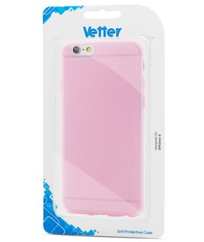 Husa iPhone 6 Vetter Soft Pro Crystal Series Easy Grip transparenta roz