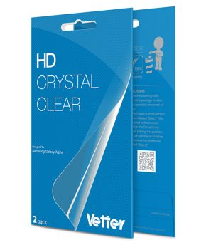 Samsung Galaxy Alpha SM-G850 2 pack Vetter HD Crystal Clear
