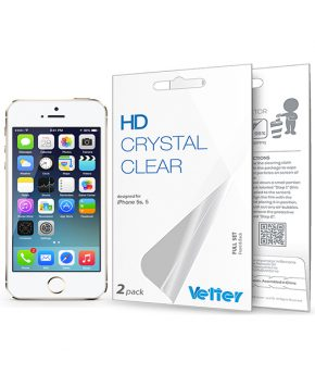 Folie Vetter HD Crystal Clear pentru iPhone 5 / 5S | Full set | 2 Pack