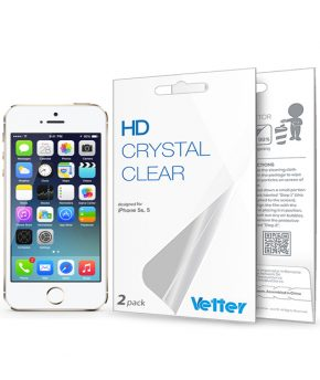 Folie Vetter HD Crystal Clear pentru iPhone 5/5S | 2 pack