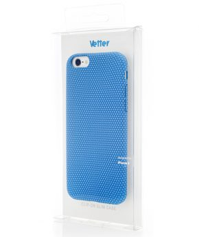 Husa iPhone 6 Vetter Soft Touch Rubber Feel albastra