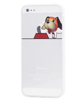 Husa Vetter iPhone 5s, 5 Clear TPU Seasons Puppy 1