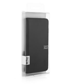 Husa Vetter iPhone 5s, 5 Slim Leather Flip Series neagra