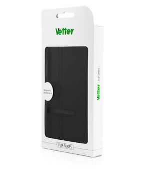 Husa Vetter iPhone 6s, 6 Flip Book Series neagra