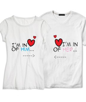 Set tricou In Love with Him Her