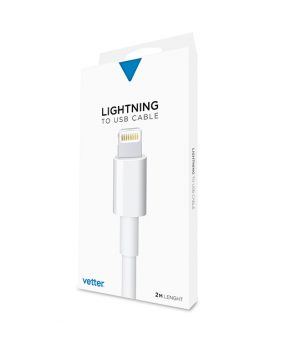 Cablu 2m iPhone 6s, 6, 5s, 5c, 5 Lightning cable
