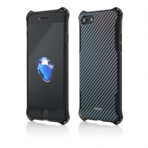 Husa iPhone 7 Clip-On Hybrid Xtra Protection Carbon Look