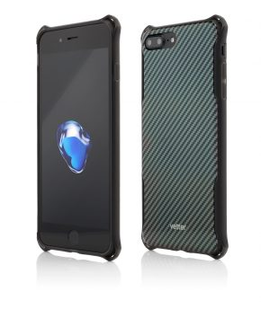 Husa iPhone 7 Plus Clip-On Hybrid Xtra Protection Carbon Look