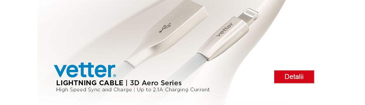 Cablu Fast Charge up to 2.1A 3D Aero Series Grey