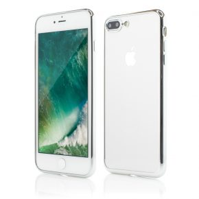 Husa iPhone 7 Plus Smart Case Shiny Soft Series silver