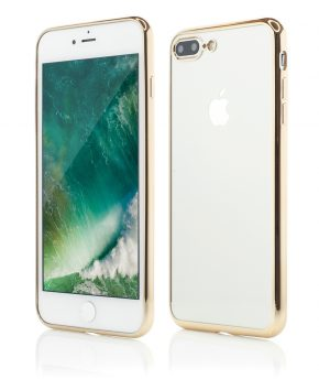 Husa iPhone 7 Plus Smart Case Shiny Soft Series gold